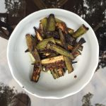 """Sauteed Okra with Lemon Juice and Olive Oil"""