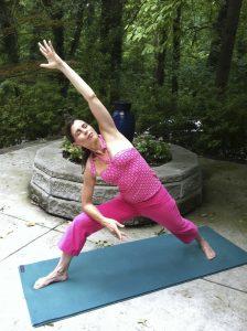 Practicing Yoga In My Garden