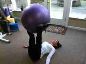 Inner Thigh Swiss Ball Twist