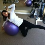 Lateral Lift On Swiss Ball