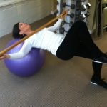 Supine Lateral Ball Roll With Knee Lift