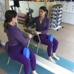 Seated Twist With Yoga Egg