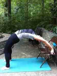 Upper back strengthener on chair