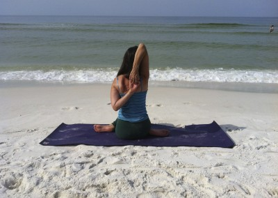 Seated Hero with Tricep Stretch