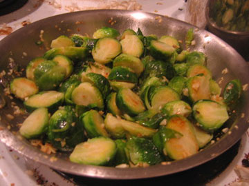 Sautéed Brussels Sprouts With Pine Nuts