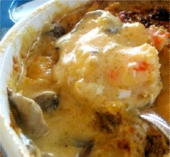 Sour Cream and Mushroom Shrimp Casserole